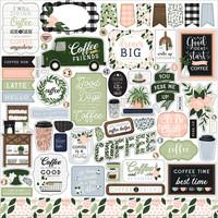Echo Park - Coffee & Friends Element Sticker 12