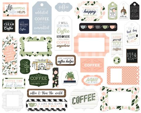 Echo Park - Coffee & Friends Frames & Tags, Leikekuvia, 33 kpl