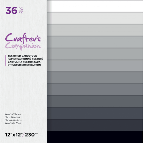 Crafter's Companion - Neutral Tones, Textured Cardstock 12