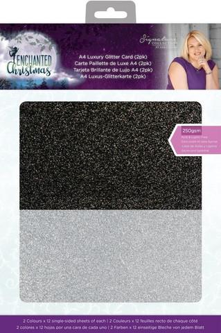 Crafter`s Companion - Sara Signature Enchanted Christmas, Glitter Card, A4, 24arkkia