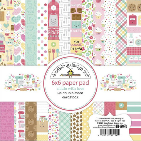 Doodlebug - Made With Love, Double-Sided Paper Pad 6