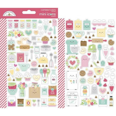 Doodlebug - Made With Love, Mini Cardstock Stickers, 2 arkkia