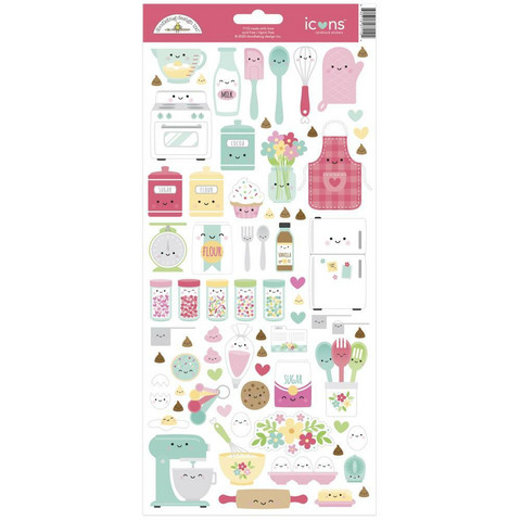Doodlebug - Made With Love, Cardstock Stickers, Tarra-arkki