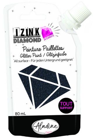 Aladine - IZINK Diamond, Black, Kimallemaali, 80ml
