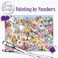 Dotty Design - Paint By Numbers 40x50cm, Baby Animals