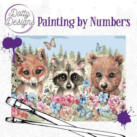 Dotty Design - Paint By Numbers 40x50cm, Forest Animals
