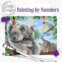 Dotty Design - Paint By Numbers 40x50cm, Wild Animals Outback