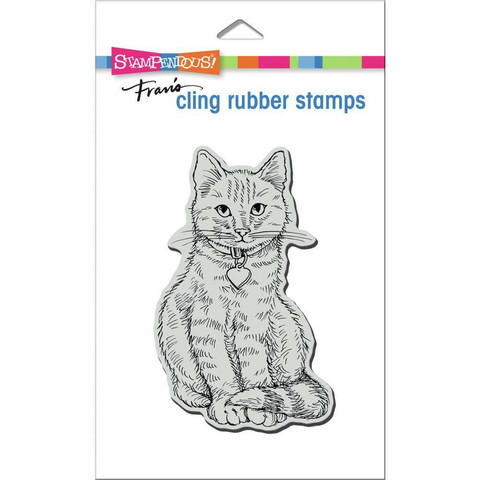 Stampendous - Sitting Kitty, Leima