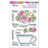 Stampendous - Pop Rose Teacup, Leimasetti