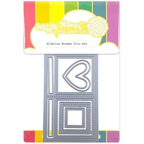 Waffle Flower - Slimline Window Trio, Stanssisetti