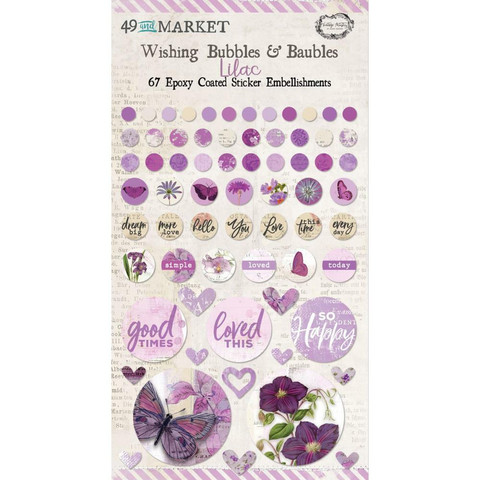49 and Market - Epoxy Coated Wishing Bubbles & Baubles, Lilac