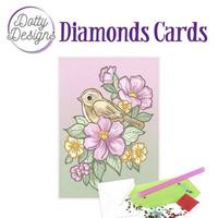 Dotty Designs - Bird and Flowers (O)(P), Timanttityökortti, 10x15cm