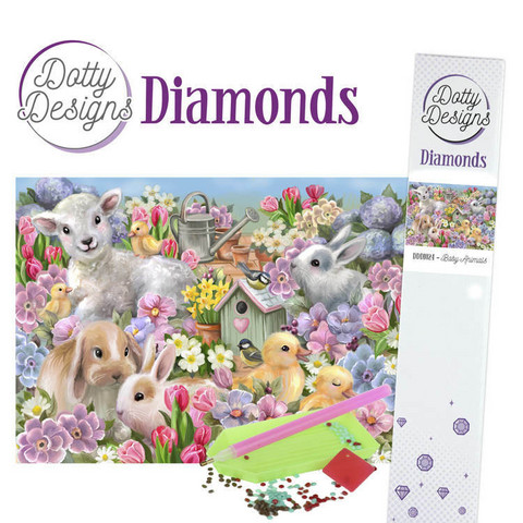 Dotty Designs - Baby Animals (K)(P), Timanttimaalaus, 30x42cm
