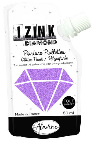 Aladine - IZINK Diamond, Pink, Kimallemaali, 80ml