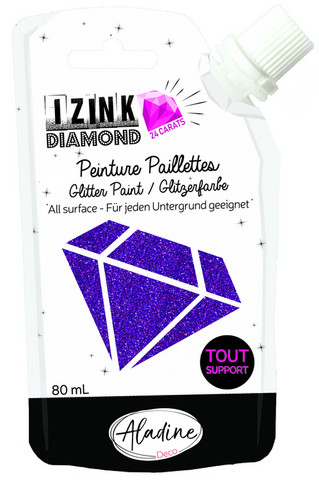 Aladine - IZINK Diamond, Purple 24 Carat, Kimallemaali, 80ml