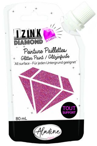 Aladine - IZINK Diamond, Dark Pink 24 Carat, Kimallemaali, 80ml