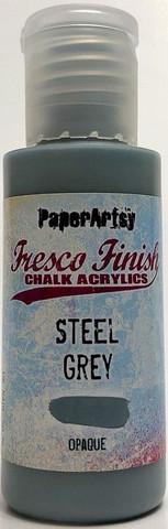 Paper Artsy - Fresco Finish, Akryylimaali, Steel Grey, 50ml