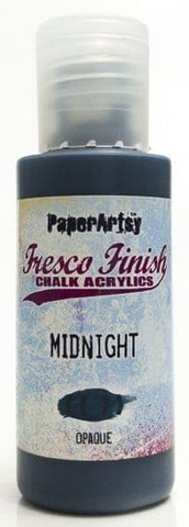 Paper Artsy - Fresco Finish, Akryylimaali, Midnight, 50ml