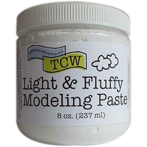 The Crafter's Workshop - Light And Fluffy Modeling Paste, Valkoinen, 237ml