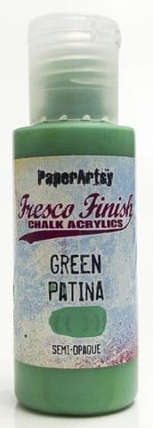Paper Artsy - Fresco Finish, Akryylimaali, Green Patina, 50ml