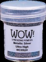 WOW! - Kohojauhe, Metallic Silver (UH)(O), Ultra High, 15ml