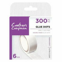 Crafter's Companion - Glue Dots, 6mm, 300kpl