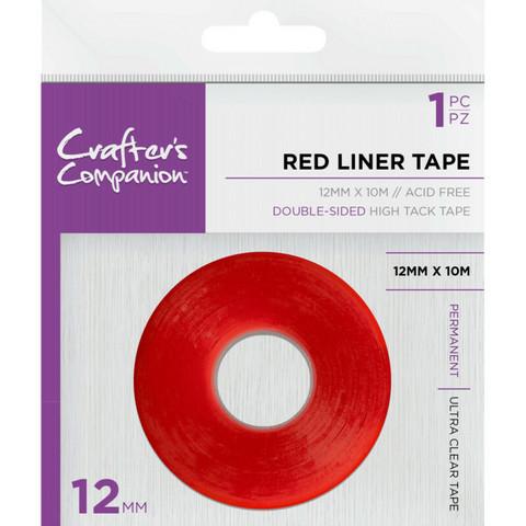 Crafter's Companion - Red Liner, Teippi, 2-puoleinen, 12 mm