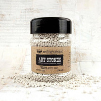 Finnabair - Art Ingredients Art Stones, valkoinen, 56g