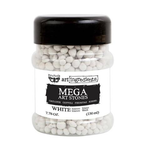 Finnabair - Art Ingredients, Mega Art Stones, valkoinen, 230ml