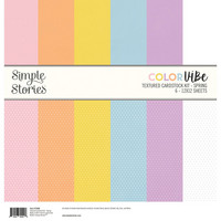 Simple Stories -  Color Vibe Textured Cardstock Kit 12