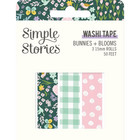 Simple Stories - Bunnies & Blooms, Washi Tape, 3 rullaa
