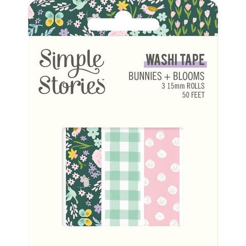 Simple Stories - Bunnies & Blooms, Washi Tape, 3 rullaa