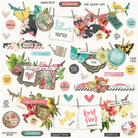 Simple Stories - Simple Vintage Cottage Fields Cardstock Stickers, 12