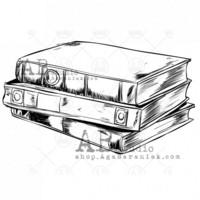 ABstudio by Aga Baraniak - Rubber Stamp, Leima, Book