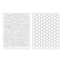 We R - Embossing Folder, Kohokuviointitasku, Woven and Honeycomb