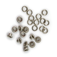 We R - Crop-A-Dile Eyelets and Washer, Eyelet-setti, Nickel, 30kpl