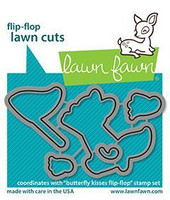 Lawn Fawn - Butterfly Kisses Flip-flop, Stanssisetti