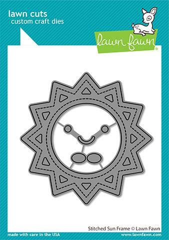 Lawn Fawn - Stitched Sun Frame, Stanssisetti
