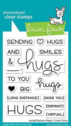 Lawn Fawn - Long Distance Hugs, Leimasetti