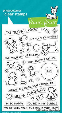 Lawn Fawn - Bubbles of Joy, Leimasetti