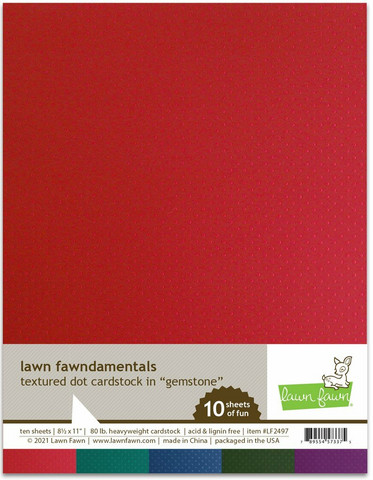 Lawn Fawn - Textured Dot Cardstock 8,5