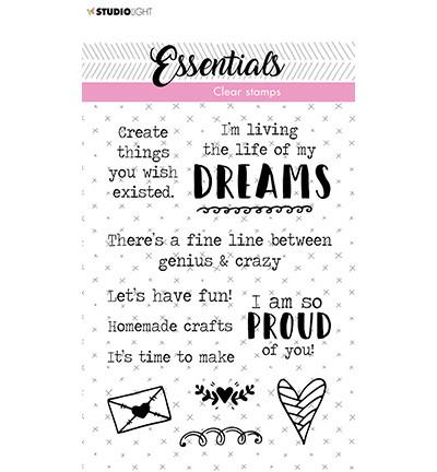 Studio Light - Clear Stamp Tekst Dreams Essentials nr.520, Leimasetti