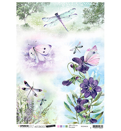 Studio Light - Jenine`s Mindful, Time to Relax 2.0, Rice Paper, Butterflies & Dragonflies Nr.36