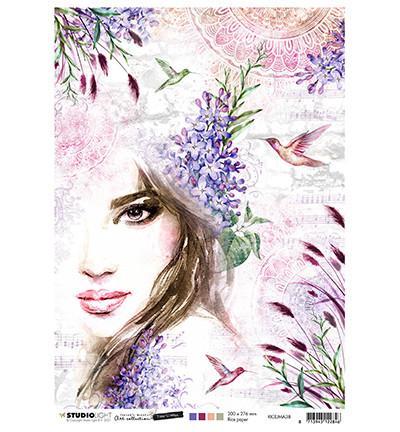 Studio Light - Jenine`s Mindful, Time to Relax 2.0, Rice Paper, Woman & Hummingbirds Nr.38
