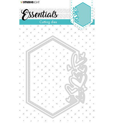 Studio Light - Cutting Die Small Shape Hexagon Hearts Essentials nr.389, Stanssisetti