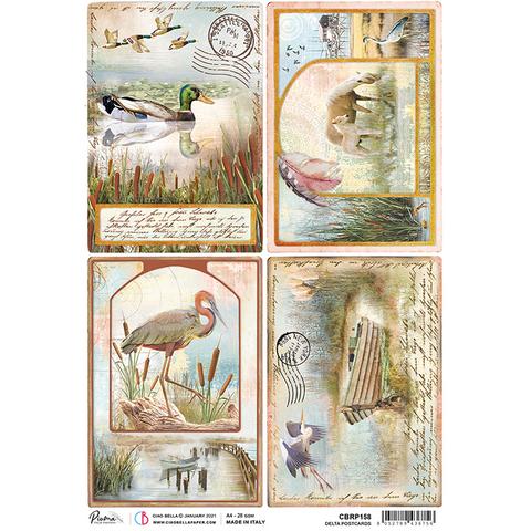 Ciao Bella - Delta, Rice Paper A4, Delta Postcards