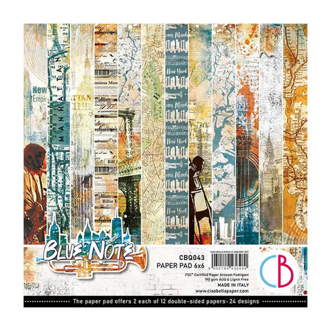 Ciao Bella - Blue Note Double-Sided Paper Pad 6
