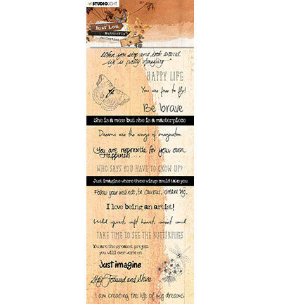 Studio Light - Just Lou Butterfly Collection nr.08, Chipboard Elements