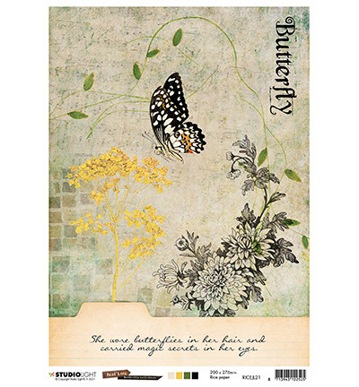 Studio Light - Just Lou Butterfly Collection nr.21, Rice Paper