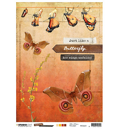 Studio Light - Just Lou Butterfly Collection nr.23, Rice Paper